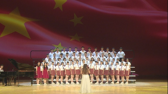 兰州第二中学《我爱你中国》亮相兰州书画晚会